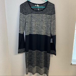 Max Studio color block light sweater dress NWT